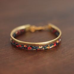 Bracelet NUNA Winter, liberty et cuir