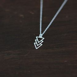 Collier NAVAJO Argent, Argent 925 et triangles